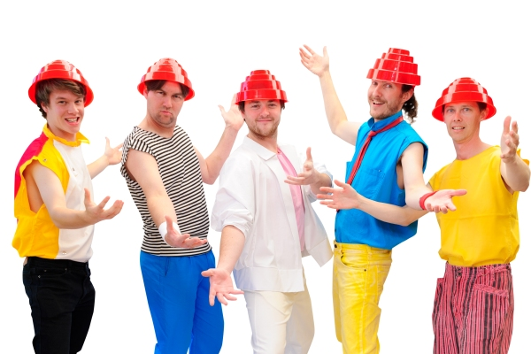 The 80's Flashback wearing Authentic Devo Hats - Flower pot hats