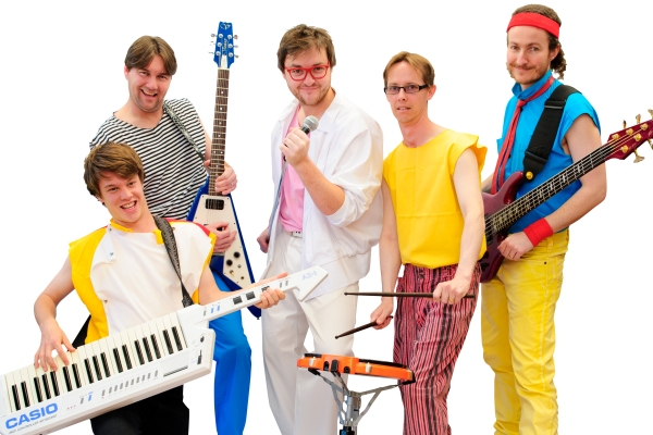 The 80's Flashback in 80's attire and with 80's instruments