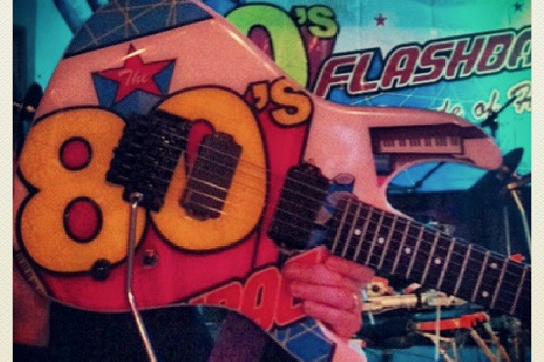 A picture of The 80's Flashback guitar made by Michael Walker